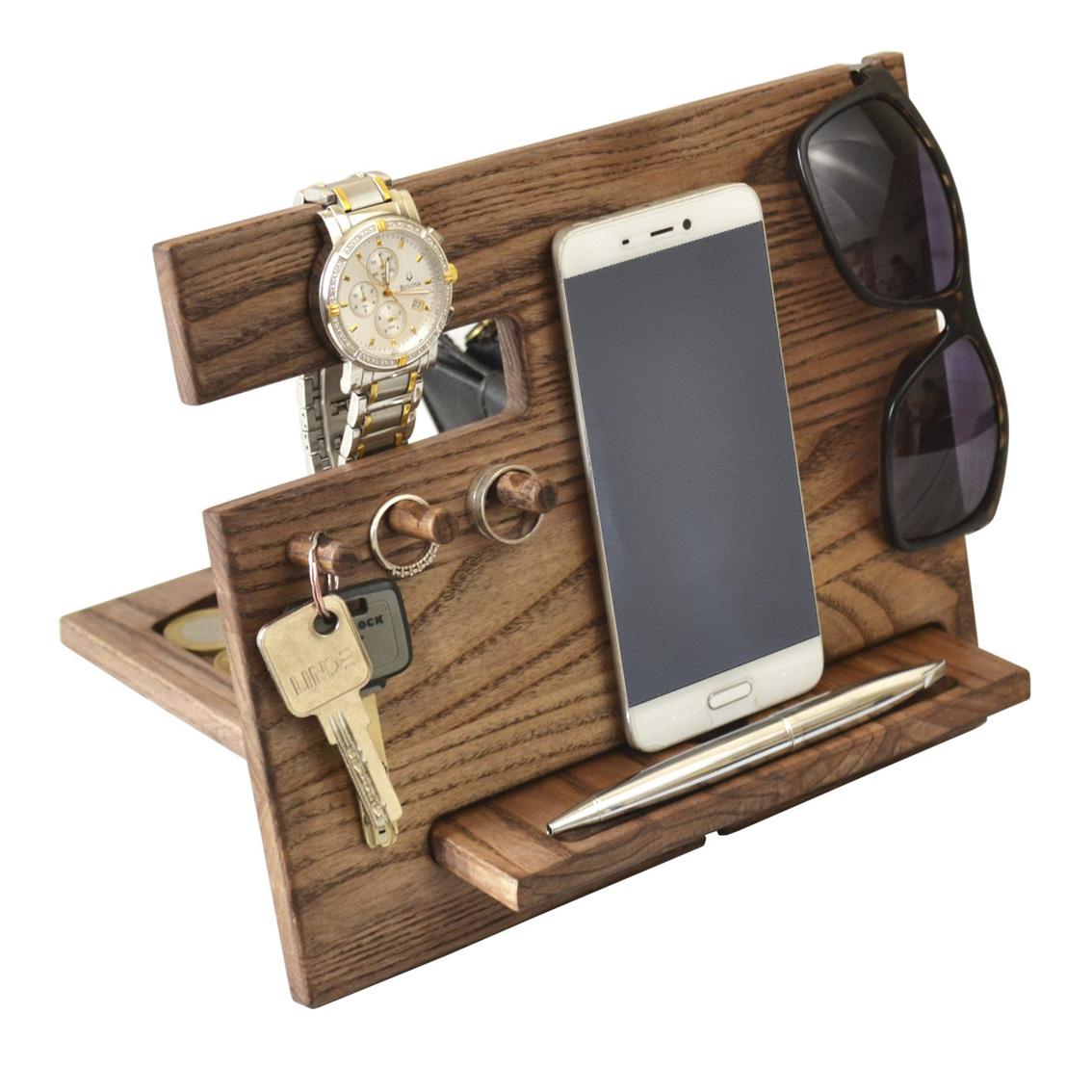 Buy Wood Phone Docking Station Ash Desk Organizer Tablet