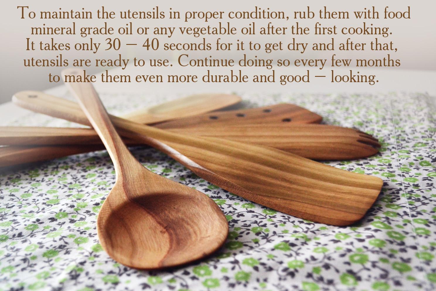 Buy Handmade Utensil Set Wooden Cute Kitchen Utensils 12