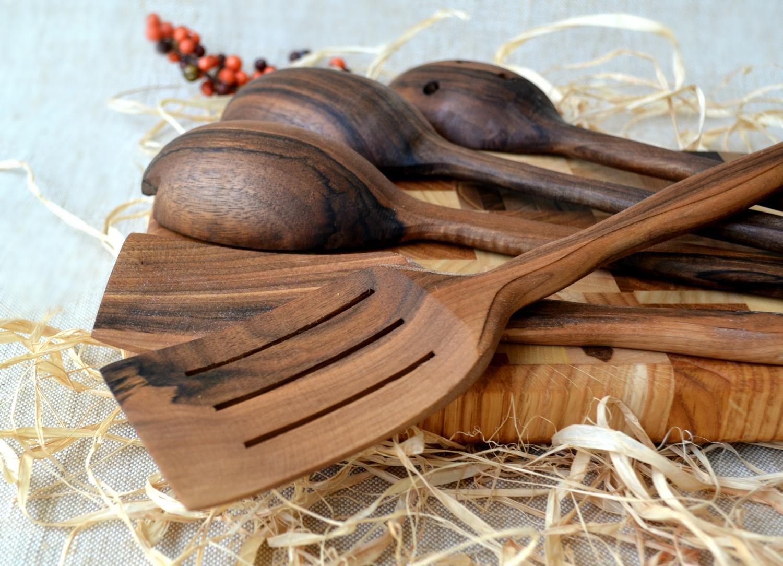 Buy Handmade Utensil Set. Wooden Cute Kitchen Utensils Set ...