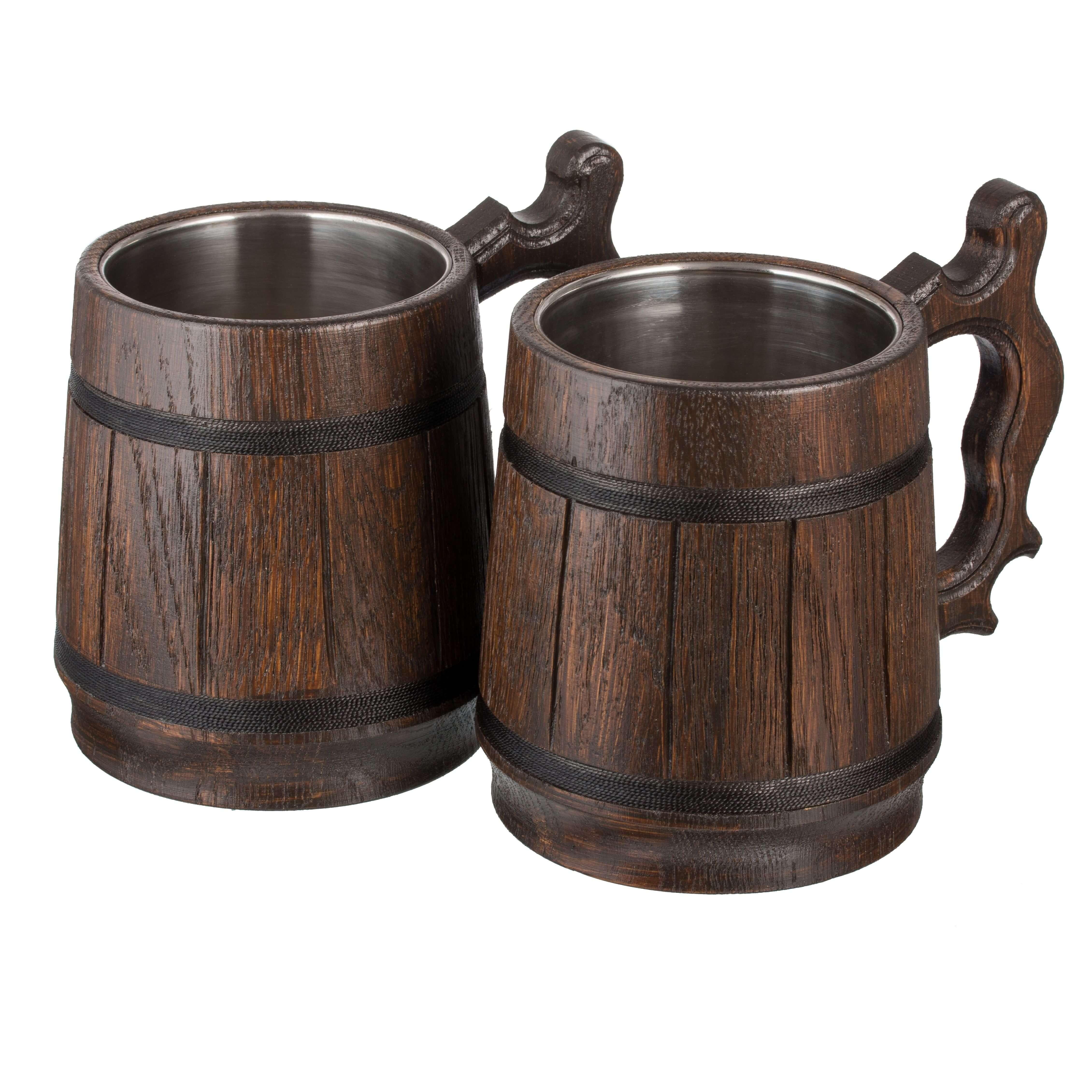 Buy Handmade Groom Wood Beer Mug Non Personalized 0 6l