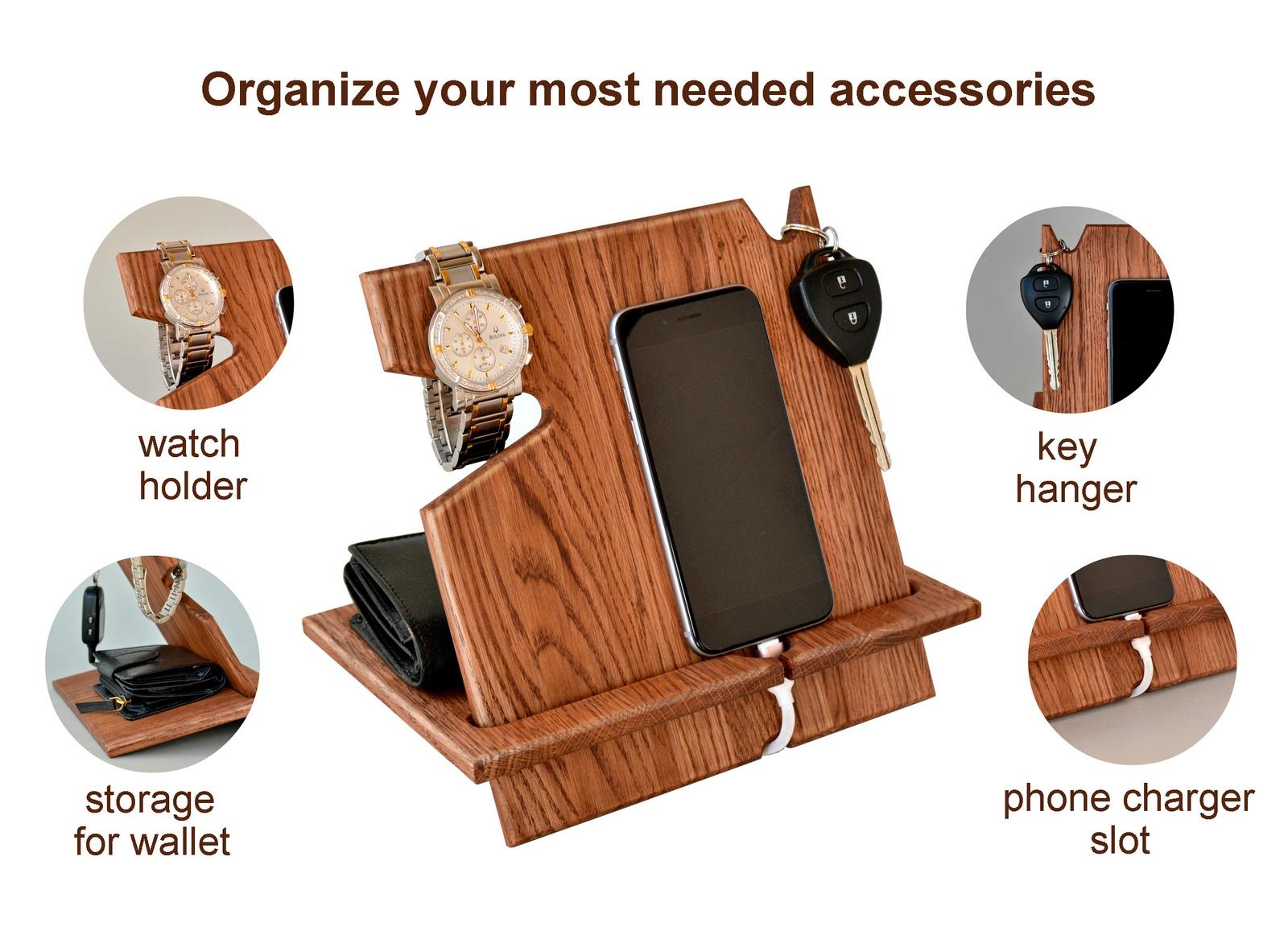 Buy Wood Phone Docking Station, Desk Organizer, Tablet