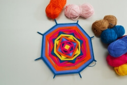 Mandala made of threads