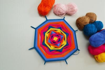 Mandala made of threads