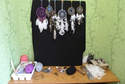 Magical corner of Dream Catcher. Catch your dreams.